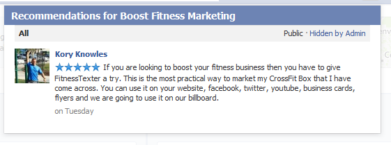 Here's a Facebook Recommendation from Caged CrossFit owner, Kory Knowles.