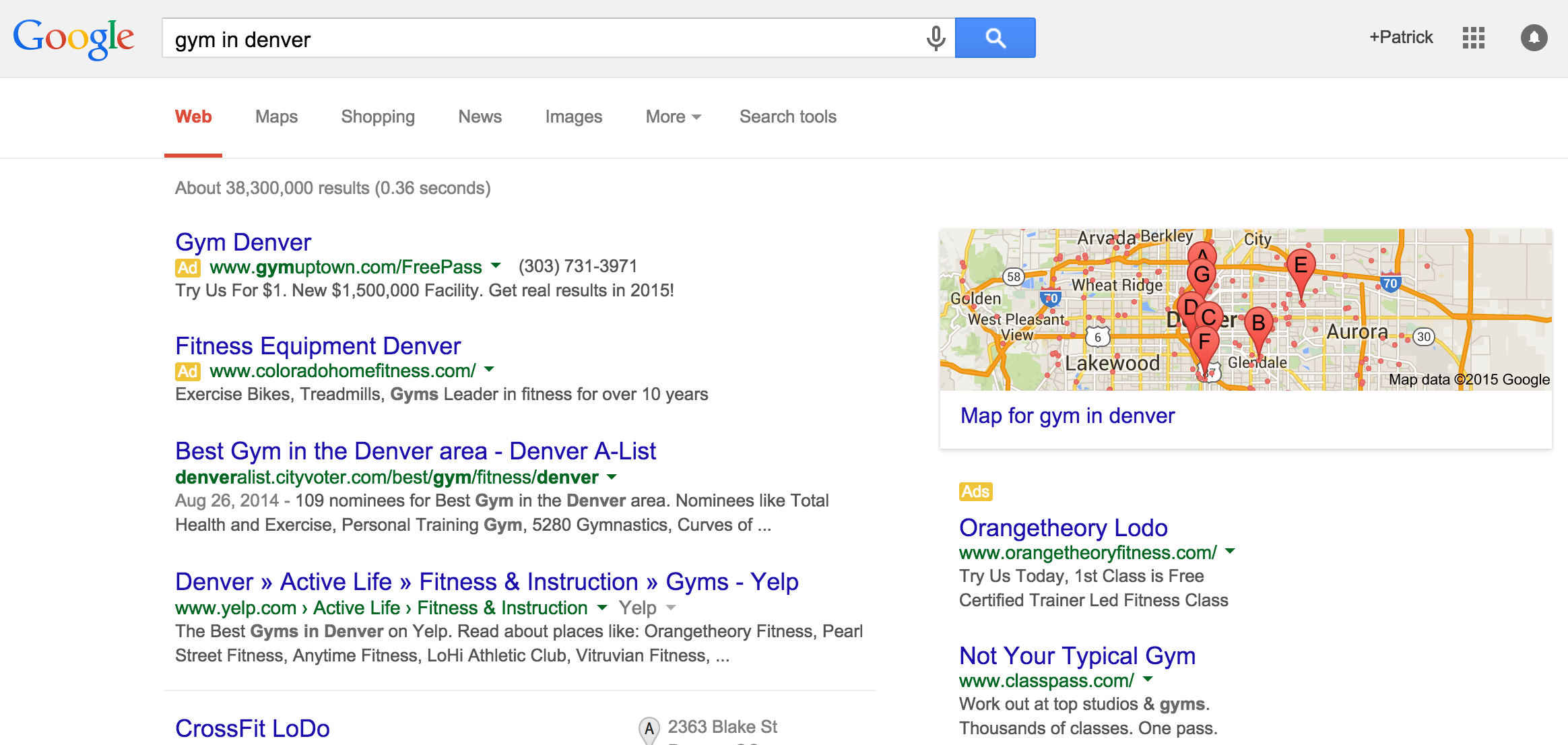 google adwords for fitness businesses